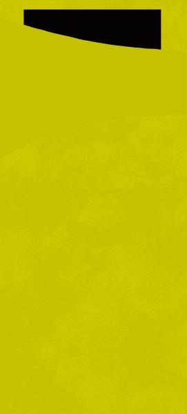 Duni SACCHETTO 190x85mm kiwi/Servietten schwarz  - 5x100 Stück