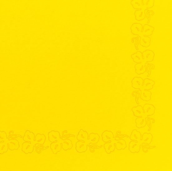 Duni Dunicel Servietten 41x41 Weinranke gelb  - 10x50 Stück