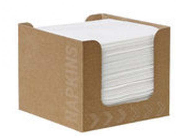 Duni Servietten Box D Soft 20x20cm, weiß  - 12x100 Stück