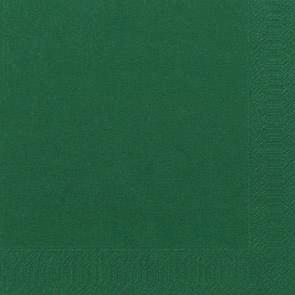 Duni Zelltuch Servietten 40x40 3lg 1/4 F jägergrün - 4x250 Stück
