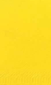 Duni Zelltuch Servietten 40x40 3lg 1/8 BF gelb  - 4x250 Stück