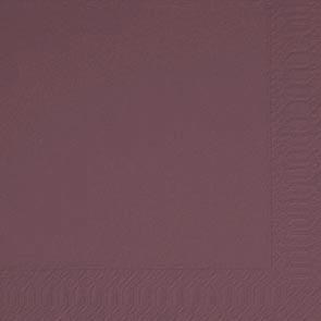 Duni Zelltuch Servietten 40x40 3lg 1/4 F plum  - 4x250 Stück