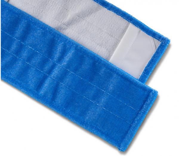 Cleanclub Borstenmopp 40cm blau mit Deckblatt