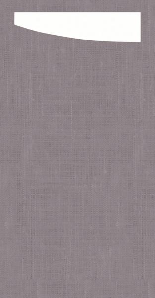 Duni SACCHETTO 230x115mm Dunisoft Servietten ,gr grey /Servietten weiß - 4x60 Stück