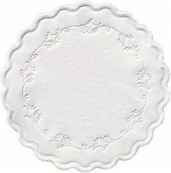 Duni Glasuntersetzer Ø 9cm, 8lg Romanze weiß - 8x250 Stück