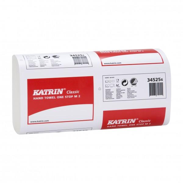 Katrin Classic One Stop M2 Falthandtücher 2-lag. weiß, 25,5x23,5cm, 3045 Blatt