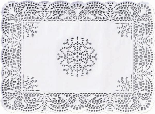 Duni Deko Spitzenpapier 30x40cm weiss - 4x250 Stück