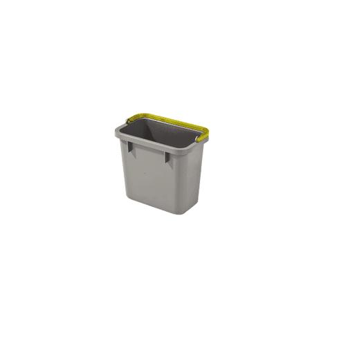 Numatic 4-Liter Eimer grau mit farbcodiertem Henkel (gelb)