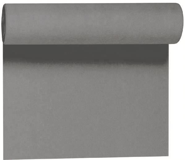 Duni DC Tete a Tete Tischläufer 0,4x24m granite grey - 6x1 Stück