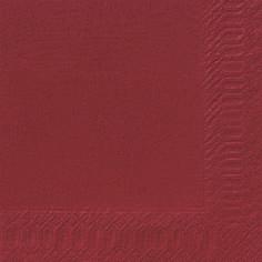 Duni Zelltuch Servietten 33x33 3lg 1/4 bordeaux  - 10x50 Stück