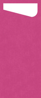 Duni SACCHETTO 230x115mm Dunisoft Servietten ,fuchsia/Servietten cream  - 4x60 Stück
