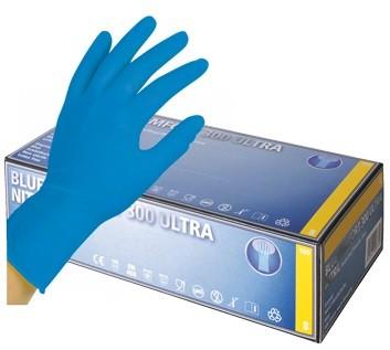 Ampri Einmalhandschuh - Nitril puderfrei - Blue Comfort Ultra 300 - L (blau)