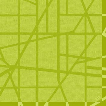 Duni Dunilin Servietten 40x40cm Maze kiwi  - 12x50 Stück