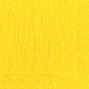 Duni Zelltuch Servietten 40x40 Klassik gelb  - 6x50 Stück