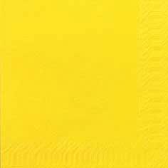 Duni Zelltuch Servietten 33x33 3lg 1/4 gelb  - 10x50 Stück