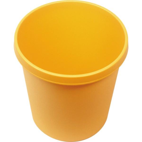 Helit Papierkorb mit Rand 30 L gelb