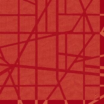 Duni Dunilin Servietten 40x40cm Maze mandarin  - 12x50 Stück