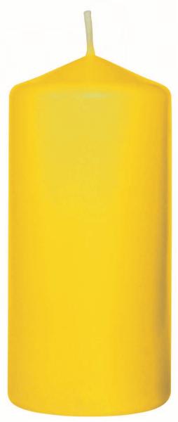 Duni Stumpenkerzen 100x50mm gelb - 6x10 Stück