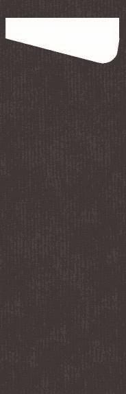 Duni SACCHETTO Slim 230x70mm schwarz/Dunisoft Servietten weiss - 4x60 Stück