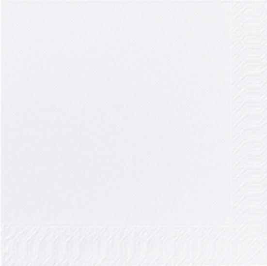 Duni Zelltuch Servietten 33x33 3lg 1/4 weiss  - 10x50 Stück