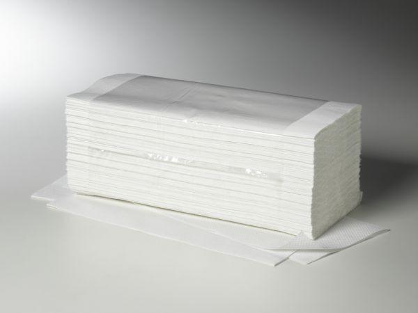 Fripa Handtuchpapier V-Falz 1-lag. weiß (1 Karton = 5000 Blatt)