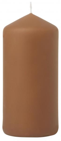 Duni Stumpenkerzen 150x70mm, matt chestnut  - 2x6 Stück