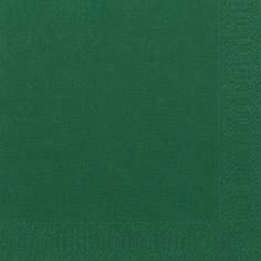 Duni Zelltuch Servietten 33x33 3lg 1/4 jägergrün  - 10x50 Stück