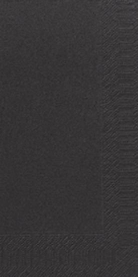 Duni Zelltuch Servietten 33x33 3lg 1/8 BF schwarz  - 4x250 Stück