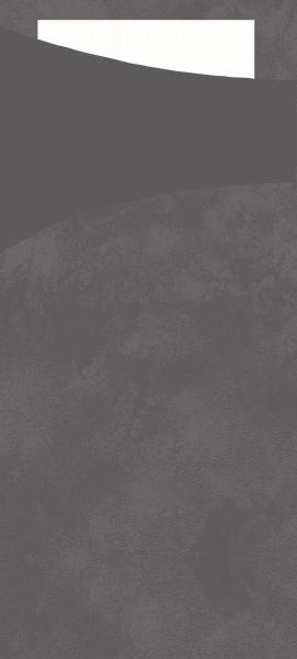 Duni SACCHETTO 190x85mm gran grey/Servietten weiss - 5x100 Stück