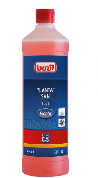 Buzil Ökologischer Sanitärunterhaltsreiniger auf Zitronensäurebasis Planta® San P312 - 1L Flasche