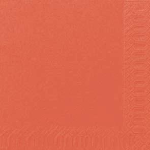 Duni Zelltuch Servietten 33x33 3lg 1/4 mandarin  - 4x250 Stück
