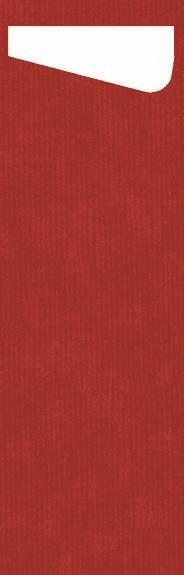 Duni SACCHETTO Slim 230x70mm rot/Dunisoft Servietten weiss - 4x60 Stück