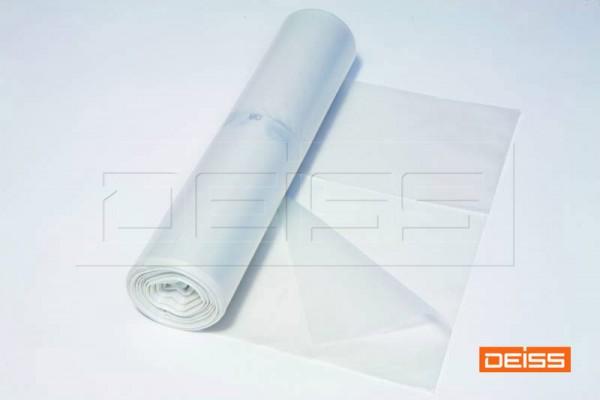 DEISS Abfallsack PREMIUM 120l transparent 70my (1 Rolle = 25 Stück)