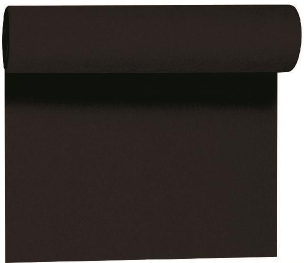 Duni DC Tete a Tete Tischläufer 0,4x24m schwarz - 6x1 Stück