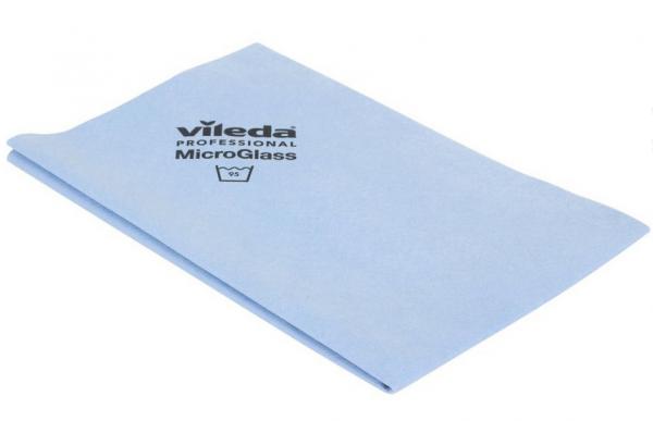 Vileda Microfaser Gläsertuch, blau, 40x50cm