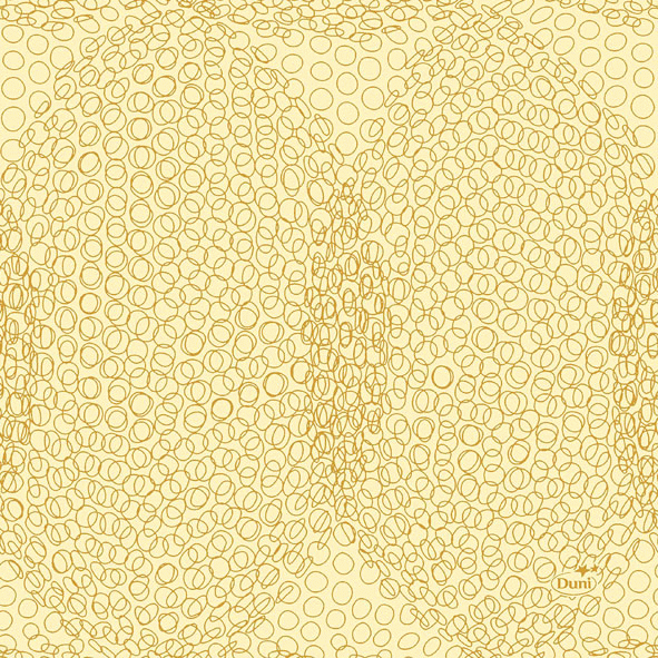 Duni Zelltuch Servietten 24x24 3lg 1/4 Organic honey - 8x250 Stück