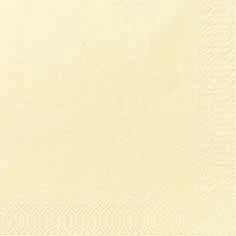 Duni Zelltuch Servietten 33x33 3lg 1/4 cream - 4x250 Stück