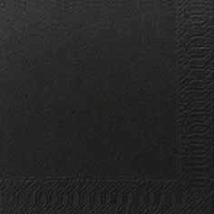 Duni Zelltuch Servietten 24x24 3lg 1/4 schwarz  - 8x250 Stück