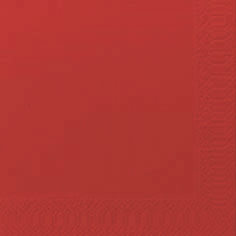 Duni Zelltuch Servietten 24x24 3lg 1/4 rot - 8x250 Stück