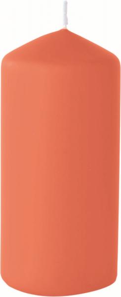 Duni Stumpenkerzen 150x70mm, matt mandarin  - 2x6 Stück