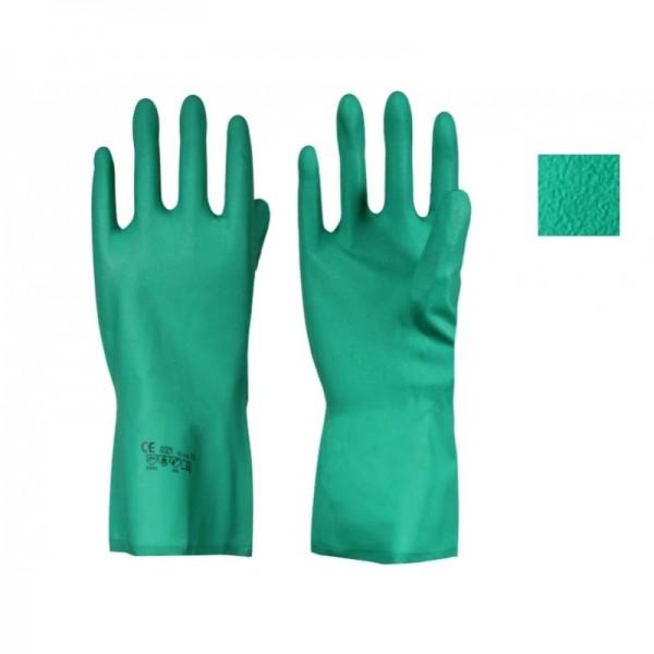 Chemikalien-Schutzhandschuh, Nitril, grün, Gr. L CE CAT31
