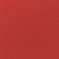 Duni Zelltuch Servietten 33x33 3lg 1/4 rot - 10x50 Stück
