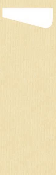 Duni SACCHETTO Slim 230x70mm cream/Dunisoft Servietten weiss - 4x60 Stück