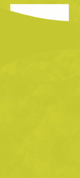 Duni SACCHETTO 190x85mm lime/Servietten weiß - 5x100 Stück