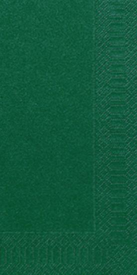 Duni Zelltuch Servietten 33x33 3lg 1/8 BF jägergrün - 4x250 Stück