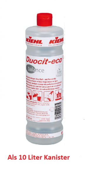 Kiehl Duocit-eco balance Sanitärreiniger 10 ltr. Kan.