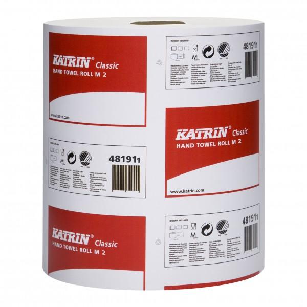 Katrin Classic M2 Handtuchrollen 2-lag. weiß, 20,5x38cm, 400Blatt (1 Packung = 6 Rollen)