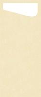 Duni SACCHETTO 230x115mm Dunisoft Servietten ,cream/Servietten cream  - 4x60 Stück