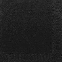 Duni Zelltuch Servietten 33x33 3lg 1/4 schwarz - 4x250 Stück