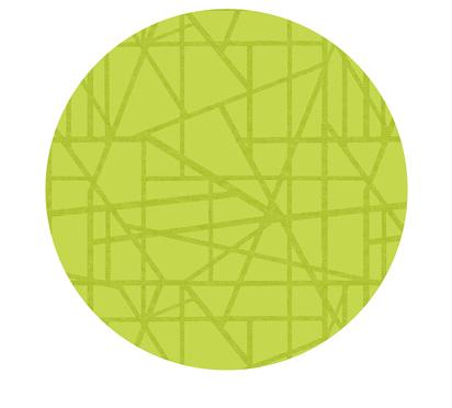 Duni Silicon Tischsets 35cm rund Maze kiwi  - 5x6 Stück